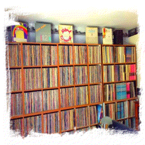 A complete wall of funk vinyls